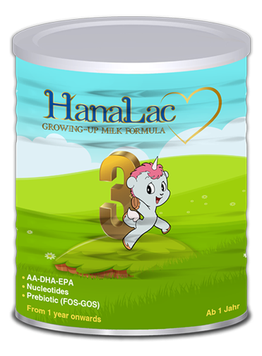 Hanalac 3 infant milk formula for baby 1-3